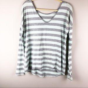Lululemon striped dolman t shirt thumb holes